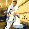 Suiting up in Zero-G